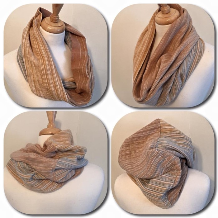 Hand woven wrap infinty cowl scarf