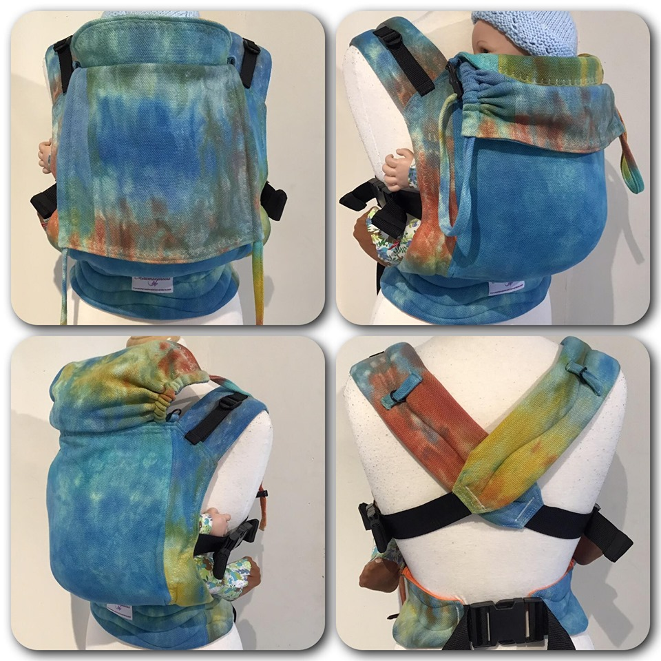 """15"""" Hand Dyed Hand Woven Full Buckle Carrier"""